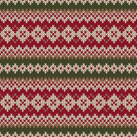 fair isle: Natale Maglione design. Seamless Pattern maglia in stile tradizionale Fair Isle