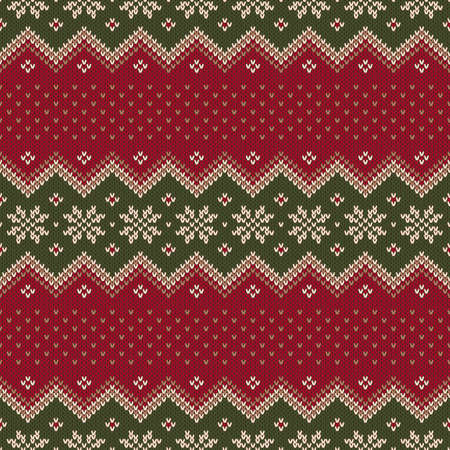 Traditional Christmas Sweater Design. Seamless Pattern Illustration