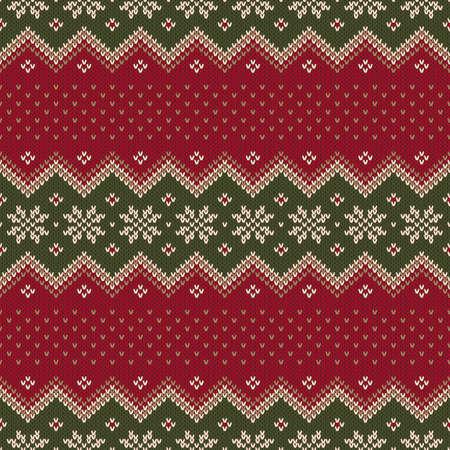 Traditional Christmas Sweater Design. Seamless Pattern Illustration