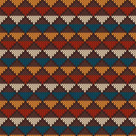 fair isle: Vintage maglia Seamless in stile Fair Isle. Hipster Maglione design Vettoriali