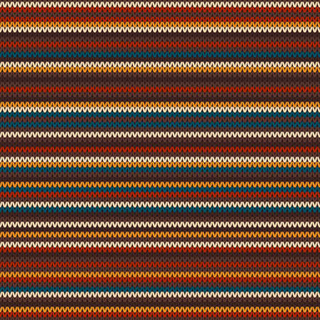 isles: Striped Colourful Knitting Pattern. Seamless Background Illustration