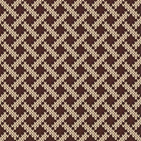 plexus: Knitted Seamless Pattern with Celtic Plexus Ornament Illustration