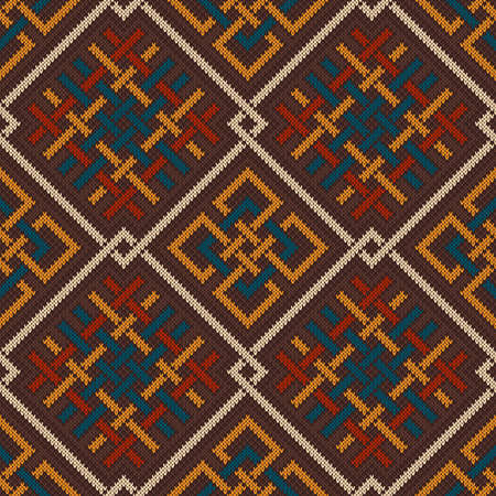 celtic background: Celtic Plexus Design Pattern. Knitted Wool Seamless Background