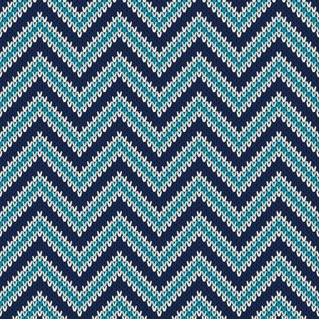 isles: Herringbone Style Knitted Seamless Pattern
