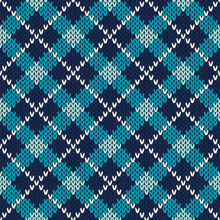 Argyle Knitting Seamless Pattern