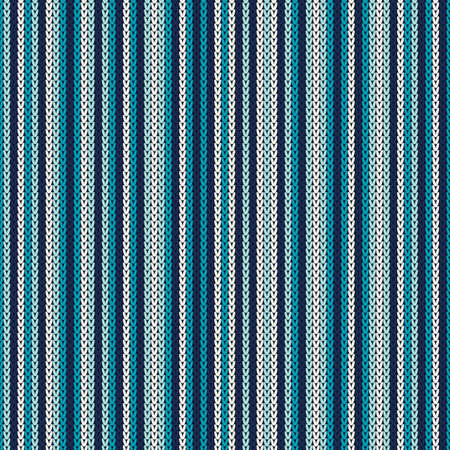 Striped Knitting Pattern. Seamless Background Vector
