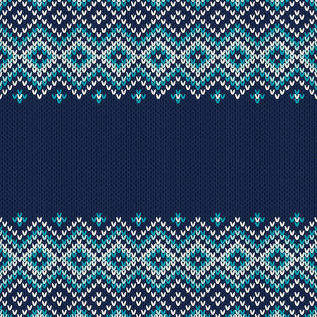 Knitted Sweater Design. Seamless Pattern