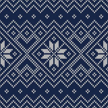 knitting: Knitted Sweater Design. Seamless Pattern