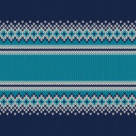 Knitted Sweater Design. Seamless Knitting Pattern 일러스트