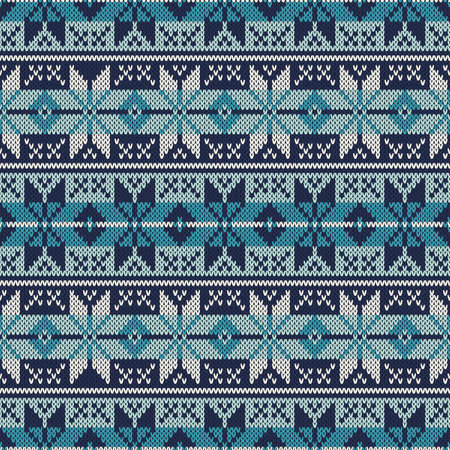 Knitted Sweater Design. Seamless Pattern Vector