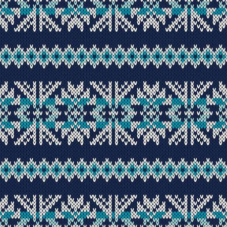 fair isle: Maglia maglione dell'annata disegno. Fair Isle Seamless Pattern