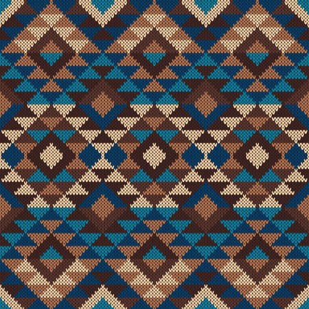Traditional Tribal Aztec Pattern. Seamless Knitting Ornament Reklamní fotografie - 37618497
