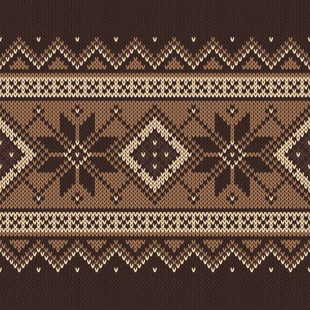 Traditional Fair Isle Pattern. Seamless Knitting Ornament Royalty ...