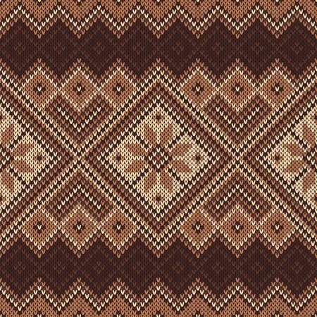 isles: Traditional Fair Isle Pattern. Seamless Knitting Ornament Illustration