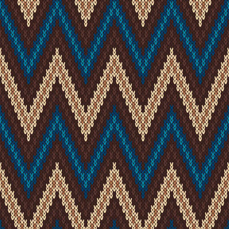 Traditional Fair Isle Pattern. Seamless Knitting Ornament Ilustrace