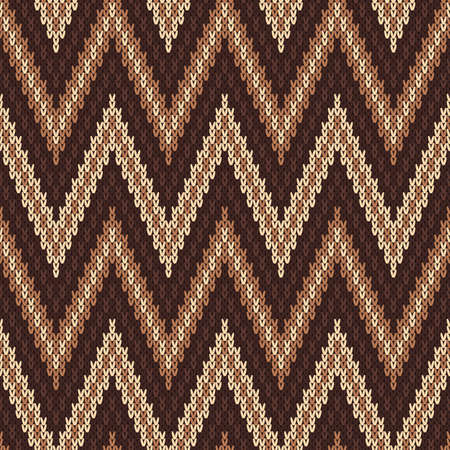 wool texture: Seamless Pattern on the Wool Knitted Texture Illustration