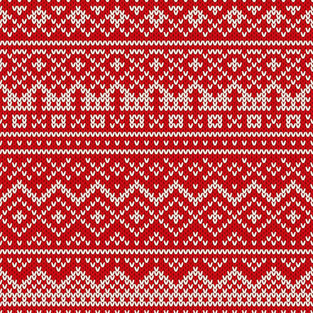 winter holiday: Winter Holiday Sweater Design. Seamless Knitted Pattern Illustration