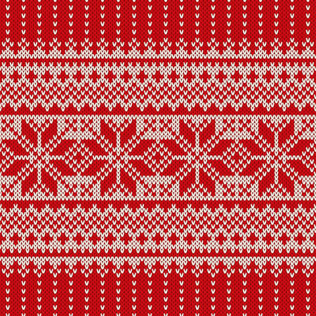 Winter Holiday Sweater Design. Seamless Knitted Pattern Illusztráció