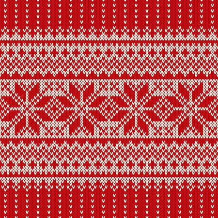 Winter Holiday Sweater Entwurf. Nahtloses gestricktes Muster Standard-Bild - 45138325