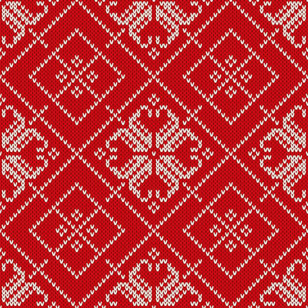 Winter Holiday Sweater Design Seamless Knitted Pattern Royalty Free