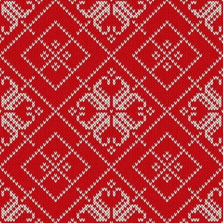 Christmas And New Year Knitting Pattern Winter Holiday Seamless