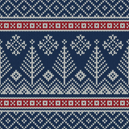 christmas sweater design seamless knitting pattern stock vector 45142554