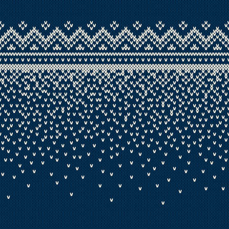jacquard: Christmas Sweater Design. Seamless Knitting Pattern Illustration