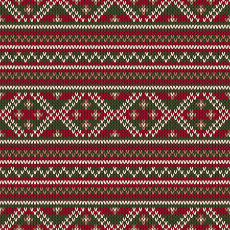 Winter Holiday Seamless Knitted Pattern. Fair Isle Sweater Design ...