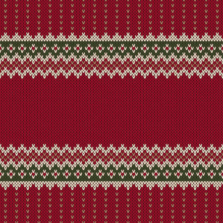 Traditional Fair Isle Style Seamless Knitted Pattern Illustration