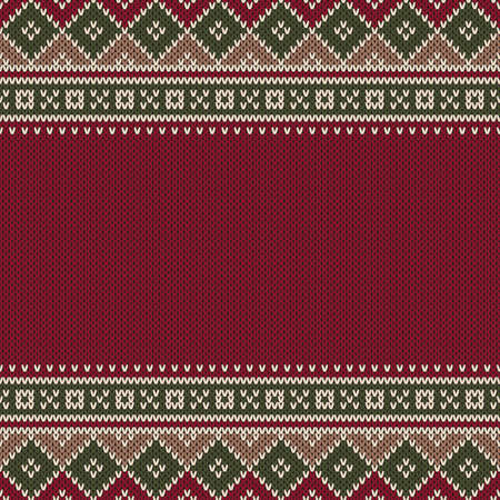 fair isle: Traditional Fair Isle Style Seamless Knitted Pattern Illustration