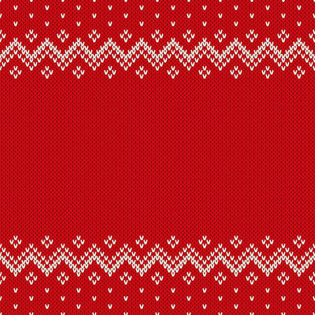 fashion pattern: Fair Isle Style Seamless Knitted Pattern. Christmas Background with a Place for Text