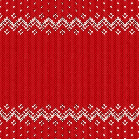 bordados: Fair Isle Style sin costuras Patr�n. Fondo de Navidad con un lugar para el texto Vectores