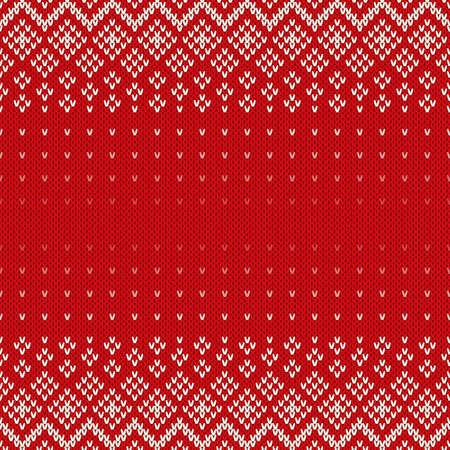 sueteres: Fair Isle Style sin costuras Patrón. Fondo de Navidad con un lugar para el texto Vectores