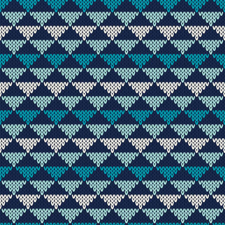 knitted: Abstract Knitted Pattern. Seamless Background Illustration