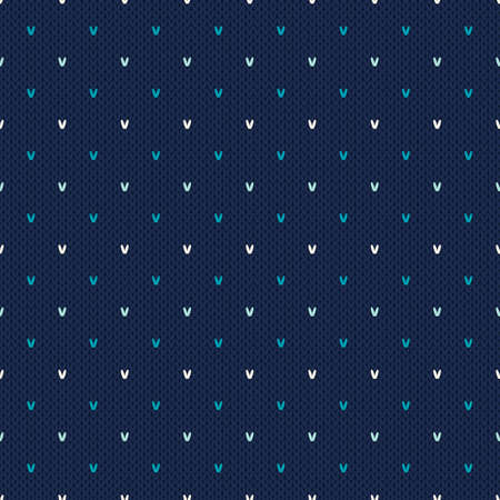 Abstract Knitted Pattern. Seamless Background  イラスト・ベクター素材