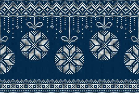 sueter: Modelo de la Navidad y el A�o Nuevo que hace punto. Vacaciones de invierno sin fisuras su�ter Dise�o Vectores