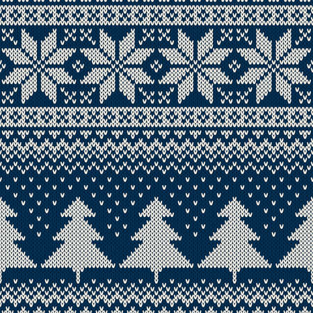 Winter Holiday Seamless Knitting Pattern Ornament For Sweater