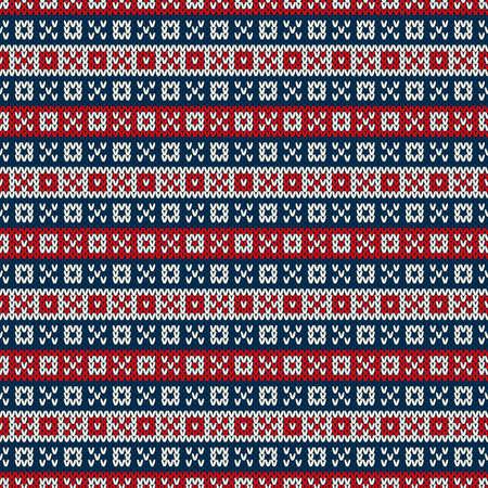 Knitted Sweater Design. Seamless Knitting Pattern Çizim