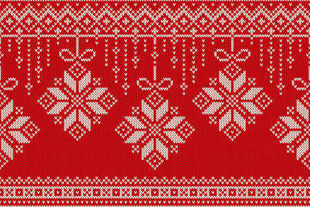fair isle: Winter Holiday Seamless Knitting Pattern. Christmas and New Year Background