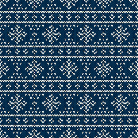 Fair Isle Style Seamless Knitted Pattern. Winter Holiday Sweater ...