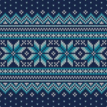 Festive e alla moda del maglione di disegno. Seamless Pattern maglia Archivio Fotografico - 48086403