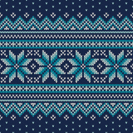Festive and Fashionable Sweater Design. Seamless Knitted Pattern