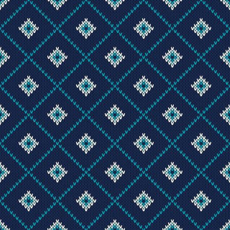 winter holiday: Winter Holiday Seamless Knitted Pattern Illustration