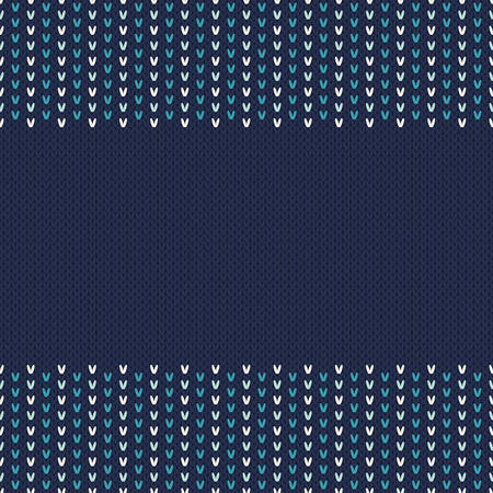 knitted: Winter Holiday Seamless Knitted Pattern Illustration