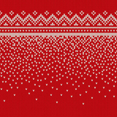holiday border: Winter Holiday Seamless Knitted Pattern. Nordic Sweater Design