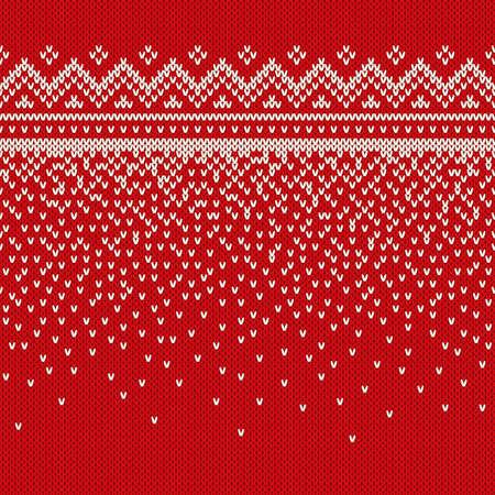 Winter Holiday Seamless Knitted Pattern. Nordic Sweater Design Reklamní fotografie - 48096383