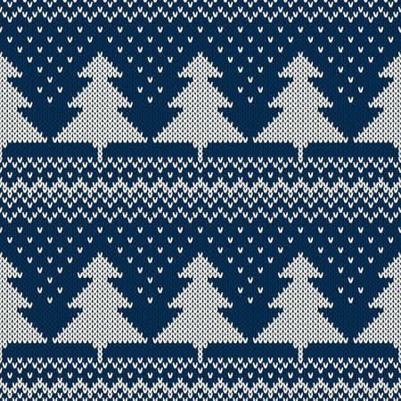 Winter Holiday Seamless Knitted Pattern. Nordic Sweater Design Reklamní fotografie - 48096408