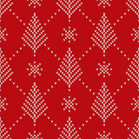 winter holiday: Winter Holiday Seamless Knitted Pattern. Nordic Sweater Design