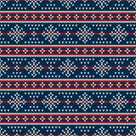 Winter Holiday Sweater Design. Seamless Knitted Pattern  イラスト・ベクター素材