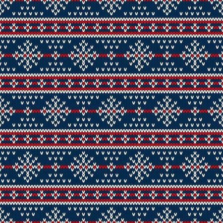 Winter Holiday Sweater Design. Seamless Knitted Pattern Çizim